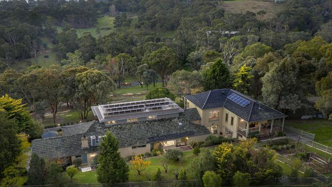 Seven paddocks, three stables and three sheds are on the 2.05ha property.
