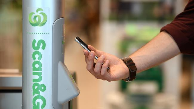 There's no cash at the new store. Instead customers can pay by card or use the Scan & Go app on their phone.