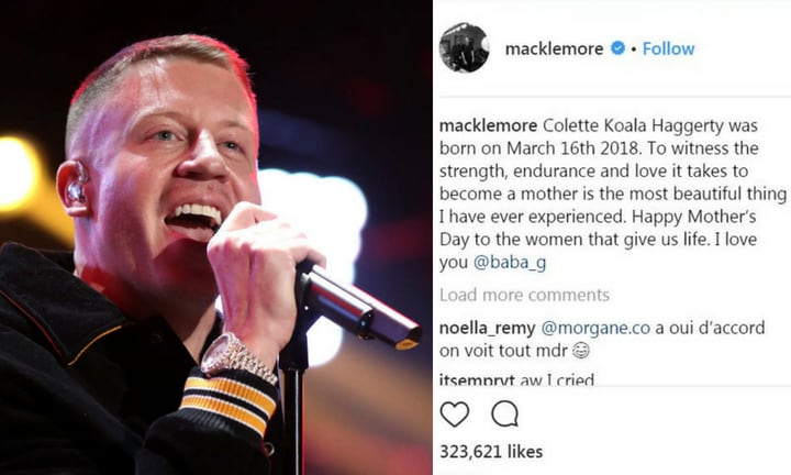 <b> COLETTE KOALA </b>  <p> Macklemore revealed his daughter's unusual name in a post honouring his wife Tricia Davis for Mother's Day. We're guessing they've never heard of the 'Caramello Koala.' </p>