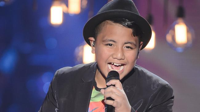Top six ... Ruhi is a finalist on The Voice Kids on Sunday night. Picture: Channel Nine