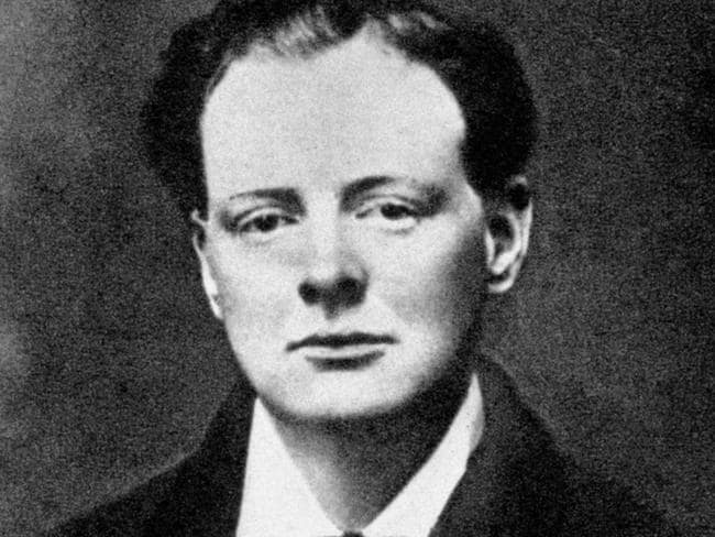 Winston Churchill in his younger years. Picture: Supplied