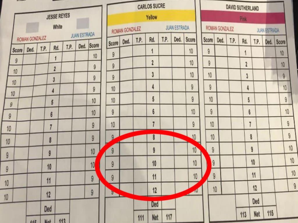 Carlos Sucre's scorecard was widely slammed.