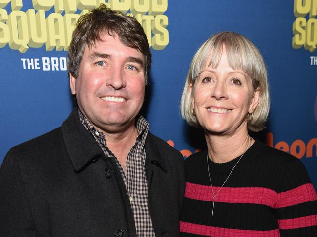 SpongeBob Creator Stephen Hillenburg and Karen Hillenburg. Picture: Getty