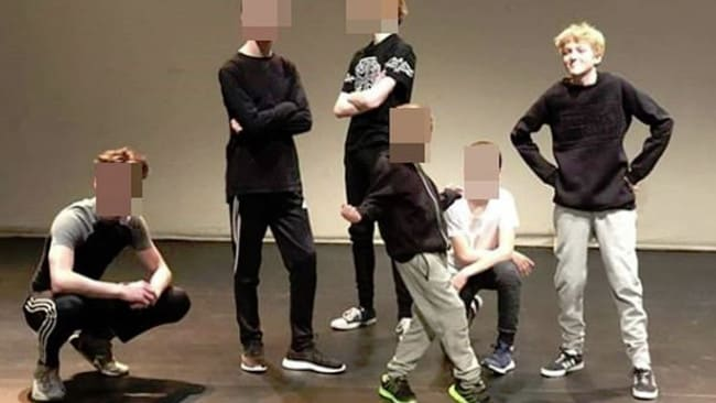 Sam Connor (far right) belonged to a local breakdancing group. Picture: Facebook