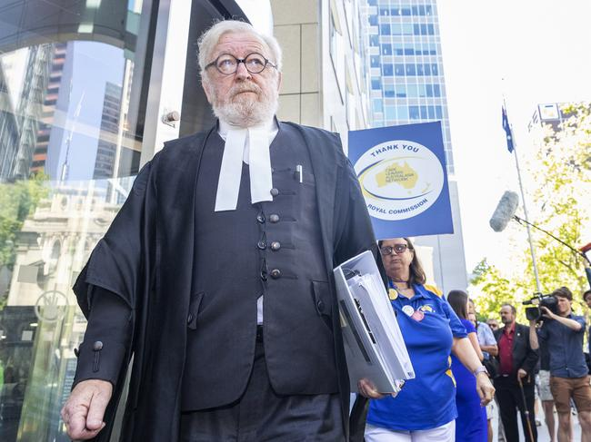 "George Pell's lawyer, Robert Richter QC has apologized for the ""terrible"" phrase he used in court. Picture: Daniel Pockett / AAP"