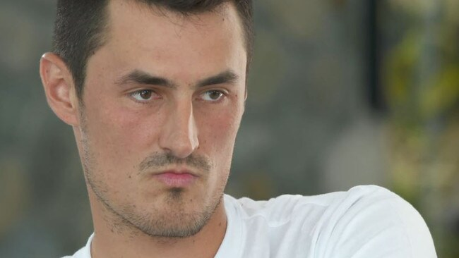 'I will knock you out': Tomic's latest serve