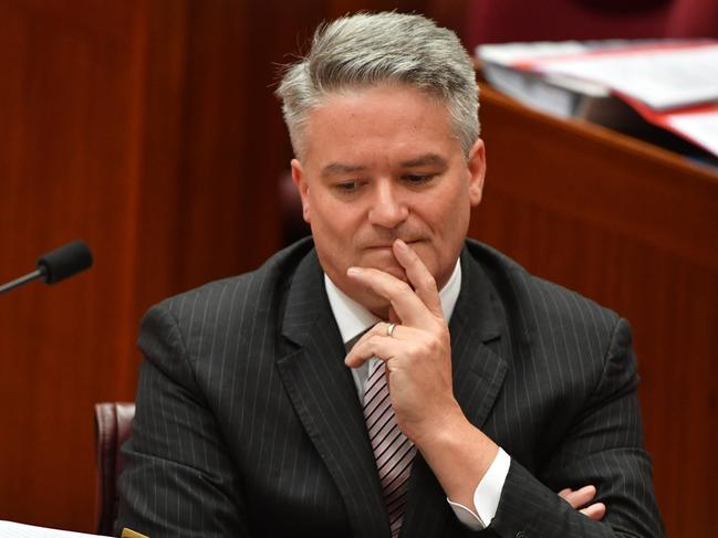 Minister for Finance Mathias Cormann has backed up Peter Dutton's claim that Malcolm Turnbull offered him Julie Bishop's job. Picture: AAP Image/Mick Tsikas