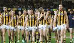 AFL First Qualifying Final with Richmond v Hawthorn at the MCG. Hawthorn coming off after their loss. Picture: Alex Coppel