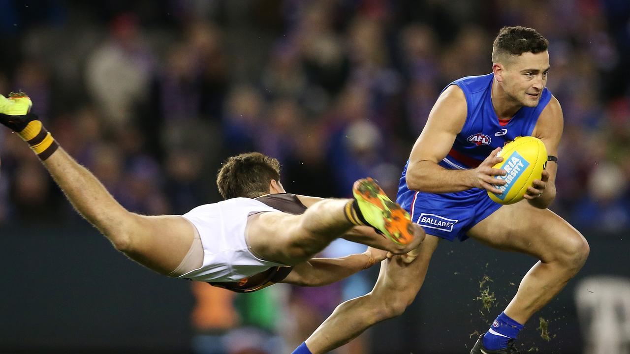 Luke Dahlhaus is set to leave the Western Bulldogs. Photo: Michael Klein