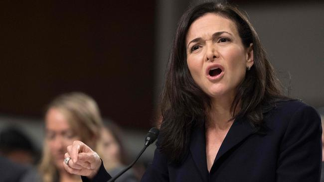 Facebook COO Sheryl Sandberg testifies before the Senate Intelligence Committee on Capitol Hill in Washington, DC. Picture: Jim Watson