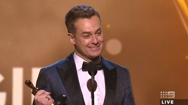 Grant Denyer wins the Gold Logie. Picture: Channel 9