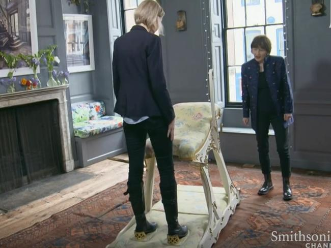 The host stands where Bertie would have. Picture: The Smithsonian Channel