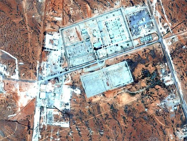 Top Secret sites: Woomera Test Range, SA, the largest weapons testing range in the world. Source: Google Earth