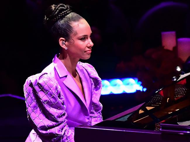Alicia Keys gave a moving performance. Picture: AFP