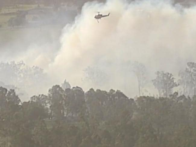 Queensland firefighters have been working to bring the blaze under control.