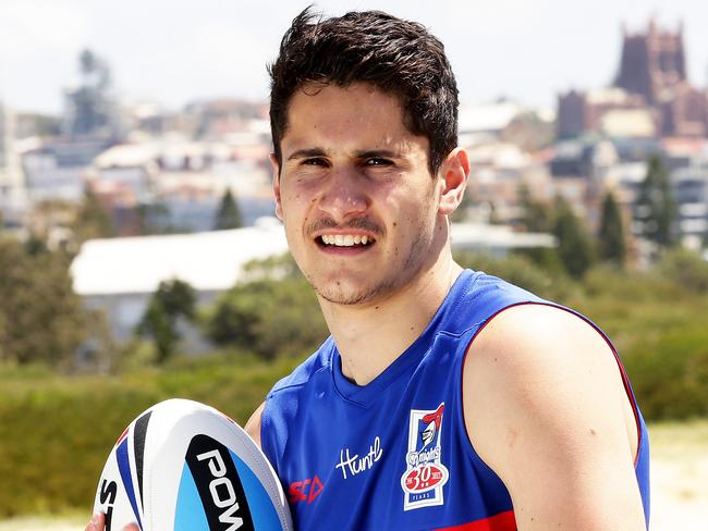 Jack Johns, son of Matty Johns, has signed with the Newcastle Knights. Picture: Peter Lorimer.