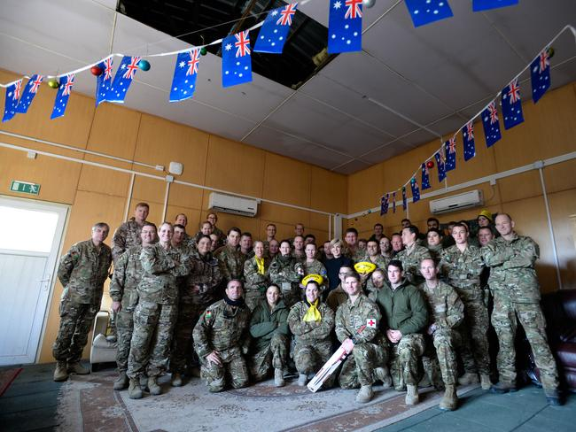 Foreign Minister Julie Bishop in Afghanistan on Australia Day / Picture: Justin McManus