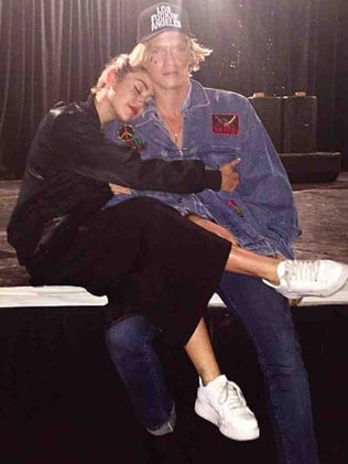 Miley Cyrus is close to Australian singer Cody Simpson. Picture: Instagram