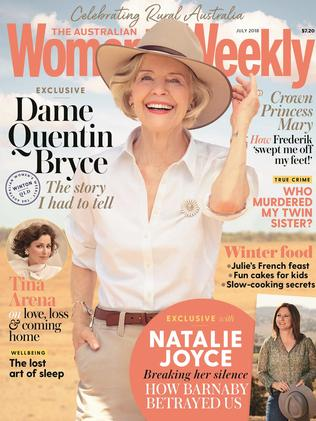 Natalie Joyce's interview appears in the July 2018 edition of The Australian Women's Weekly.