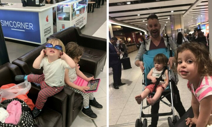 'I flew to London alone with my two kids. Oh, and I'm a man.'