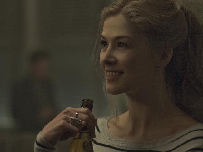 Oscar nominee ... Rosamund Pike in a scene from the film Gone Girl.