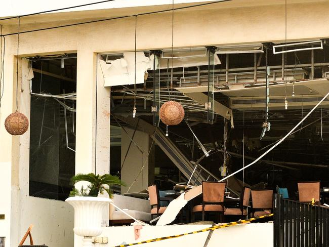 The Kingsbury Hotel targeted earlier in the day by a blast in Colombo on April 21, 2019. Picture: AFP