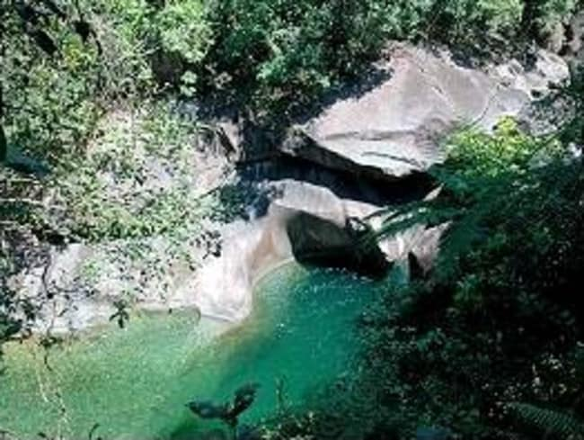 Devils Pool at the Babinda Boulders where Royal Australian Navy officer, Sub-Lieutenant James Bennett, 23, became the pool's latest statistic. Picture: Supplied