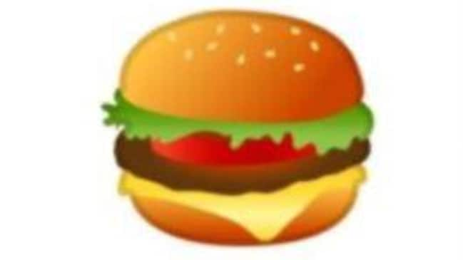 Google has promised to look at the design of its cheeseburger emoji after people complained about it on Twitter. Picture: Twitter