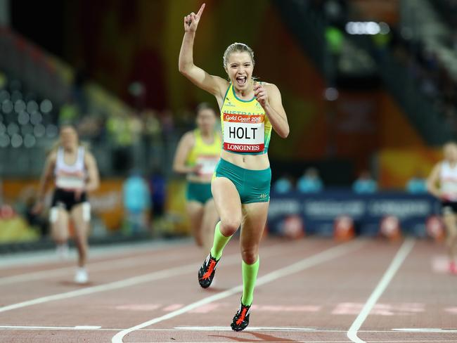 Isis Holt was a tearaway winner in the T35 100m final. Picture: Matt King/Getty Images