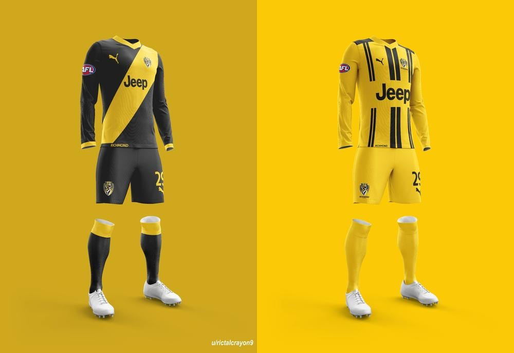 Richmond's home and away/clash jerseys.