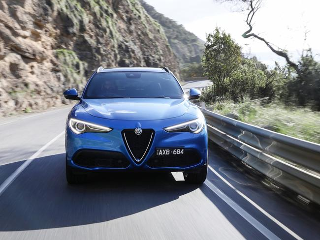 Rapid progress: Get well past 2000rpm and the Stelvio comes alive
