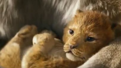 Baby Simba in CGI is TOO cute.