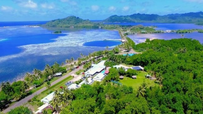 A view of the resort on Kosrae. Picture: Scott Beitz