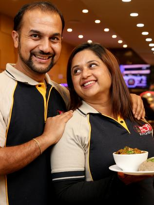 Amit Acharya and his wife Anjana Dhakal at their restaurant AD's Kitchen in Campsie. Picture: Jonathan Ng