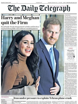How British newspaper The Daily Telegraph reported the news.
