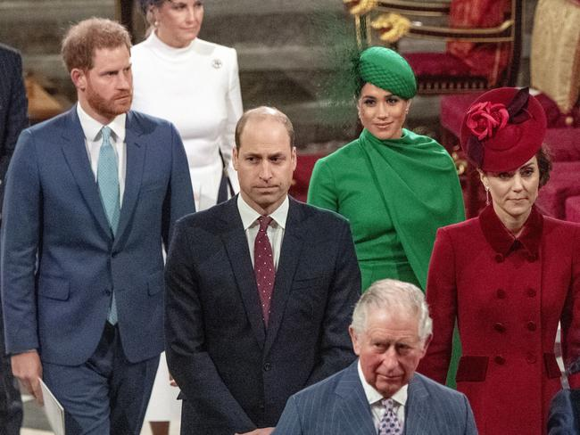 Meghan and Harry were spared an embarrassing situation, thanks to the kindness of Kate and William. Picture: Phil Harris / Pool via AP
