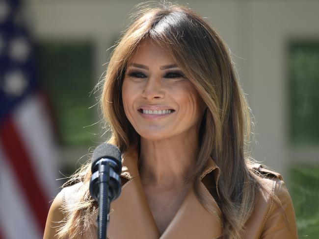 First lady Melania Trump is doing well following her release from hospital. Picture: AP