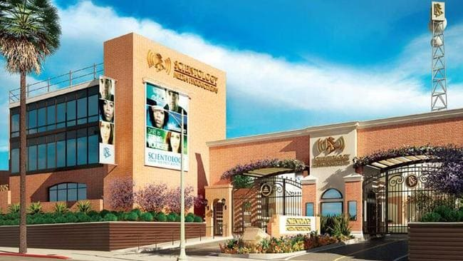 All interior and exterior spaces of the studio lot are being upgraded and branded with Scientology logos.