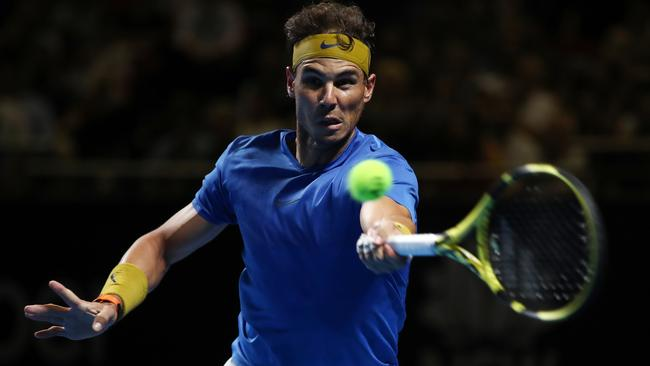 Rafael Nadal in action during the Fast4 Showdown.