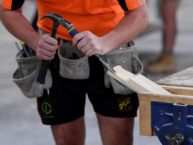 The RBA has sounded a rare warning, indicating job losses in the construction sector are imminent. Picture: AAP Image/Lukas Coch