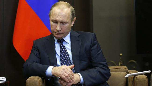 'Serious consequences' ... Putin said the shooting down of the plane was a 'stab in the back'.