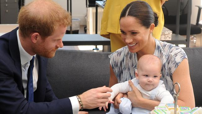 Harry, Meghan and Archie will lead a more private life from now on. Picture: Henk Kruger/ Pool/AFP