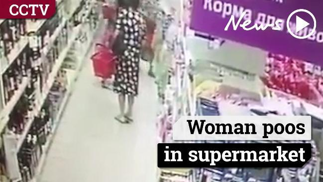 The moment a woman poos in a supermarket