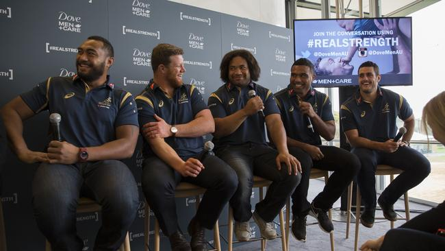 Qantas Wallabies players open up about what makes a man strong.