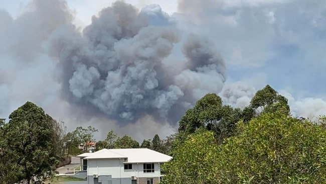 Smoke over Darawank in central NSW. Picture: Facebook