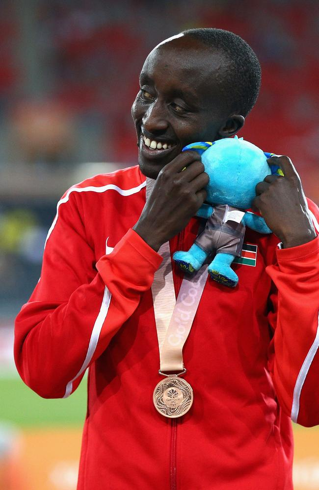 Edward Pingua Zakayo. (Michael Dodge/Getty Images)
