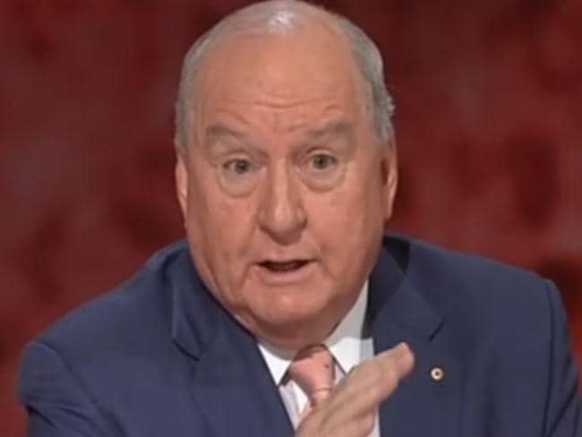 Alan Jones gives his most passionate response on last night's Q&A when he was discussing the Bali Nine members' imminent executions.