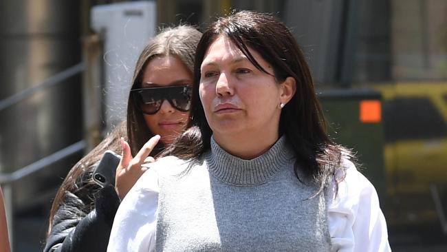 Roberta Williams and her daughter Dhakota arrive at the Supreme Court in Melbourne. Picture: AAP