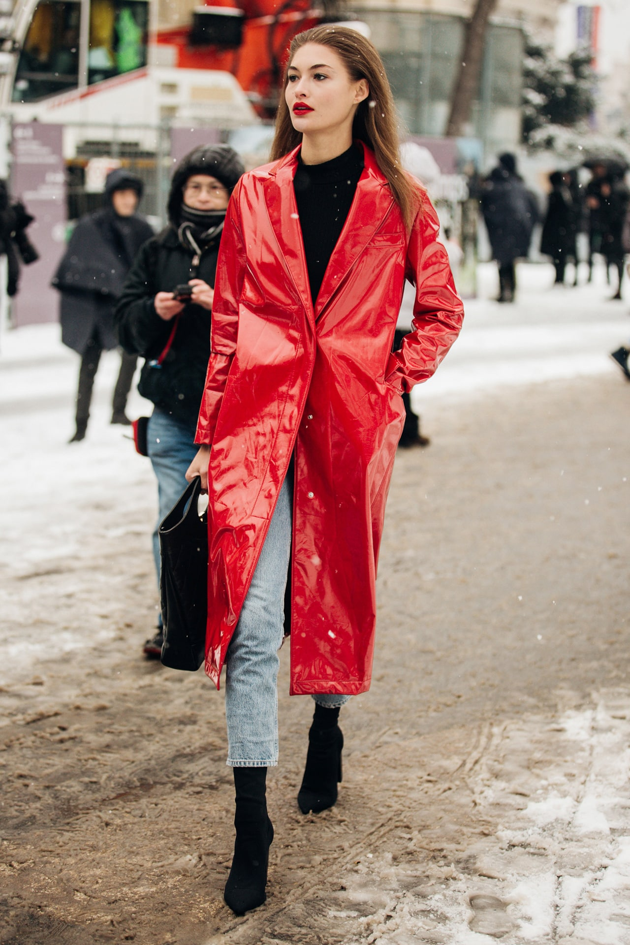 How models do winter dressing