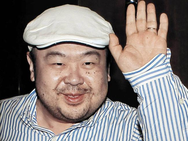 Kim Jong Nam, the eldest son of then North Korean leader Kim Jong-il, before his death. Picture: AP